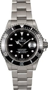 Men's Rolex Submariner 16610 Oyster Perpetual Date