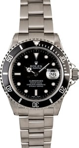 Certified Pre-Owned Rolex Submariner 16610 Oyster Perpetual Date