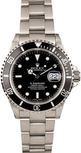 Black Dial Rolex Submariner 16610 Steel Oyster Band