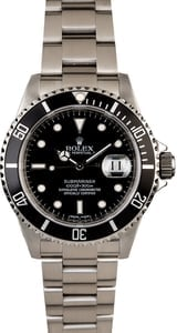 Rolex Submariner 16610 Serial Engraved Rehaut