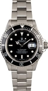PreOwned Rolex Submariner 16610 Steel Oyster