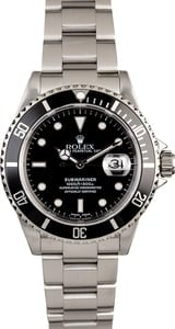 Certified Pre-Owned Rolex Submariner 16610 Oyster Perpetual