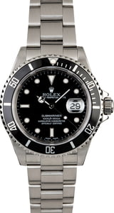 PreOwned Rolex Submariner 16610 Men's Watch