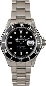 Men's Rolex Submariner 16610 Steel Watch