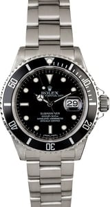 PreOwned Rolex Submariner 16610 Serial Engraved