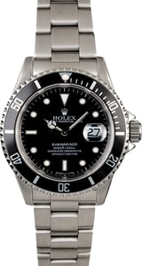 Men's Rolex Submariner 16610 Steel Band
