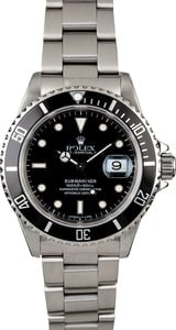 Certified PreOwned Men's Rolex Submariner 16610