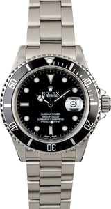 Certified Rolex Submariner 16610 with Black Dial