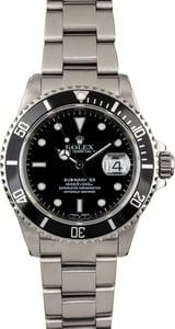 Mens Rolex Submariner 16610 Certified Pre Owned