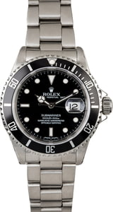 Certified Rolex Submariner 16610 Men's Diving Watch