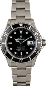 Rolex Submariner 16610 Steel No Holes Case
