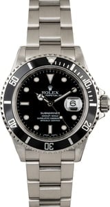 Certified Rolex Submariner 16610 Oyster Perpetual