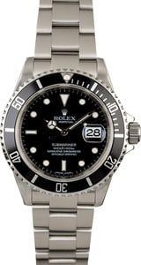 Used Rolex Submariner 16610 Serial Engraved