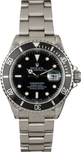 Used Rolex Submariner 16610 Luminous Markers