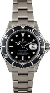 Rolex Submariner 16610 with Serial Engraved Rehaut