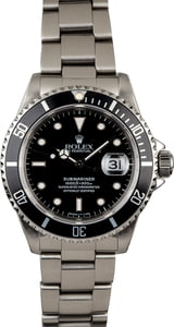 Used Rolex Submariner 16610 Stainless Steel Oyster