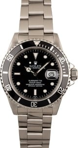 Used Rolex Submariner 16610 Stainless Steel Watch