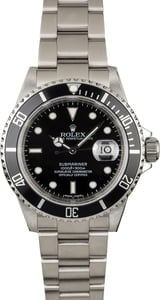 Used Rolex Submariner 16610 with Serial Engraved Rehaut