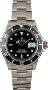 Men's Rolex Submariner 16610 Serial Engraved Rehaut