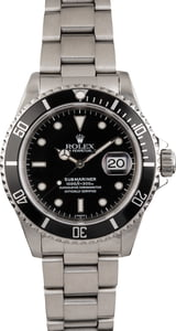 PreOwned Rolex Submariner 16610 Black Timing Bezel Insert