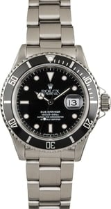 Used Rolex Steel Submariner 16610 Mens
