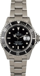 Pre Owned Rolex Submariner 16610 Diving Watch