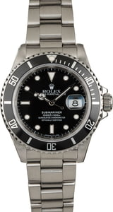 Used Rolex Submariner 16610 Black Timing Bezel