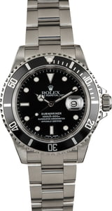 Used Rolex Submariner 16610 Stainless Oyster
