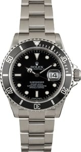 Used Rolex Submariner 16610 Black Dial and Bezel