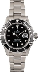 Used Rolex Stainless Steel Submariner 16610