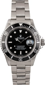 PreOwned Rolex Stainless 40MM Submariner 16610
