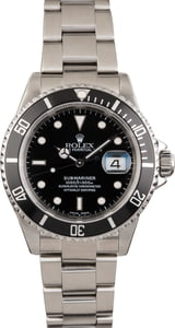 PreOwned Rolex Steel Submariner 16610 Dive Watch