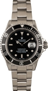 Pre-Owned Rolex Men's Submariner in Steel 16610