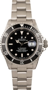 Used Rolex Submariner 16610 Steel Dive Watch