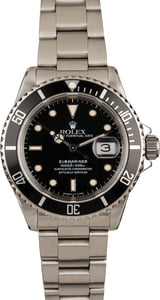 Used Rolex Submariner 16610 Black Insert