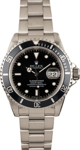 PreOwned Rolex Submariner 16610 Steel Dive Watch