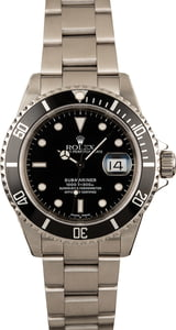 Used Rolex Submariner 16610 Black Dial Watch