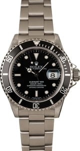 Used Rolex Submariner Stainless Steel 16610 Black Dial