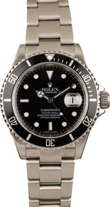 Used Rolex Stainless Steel Submariner 16610 Serial Engraved