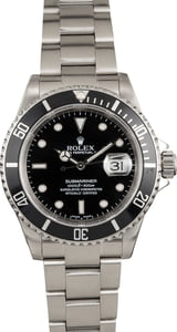 Pre Owned Rolex Submariner Black 16610