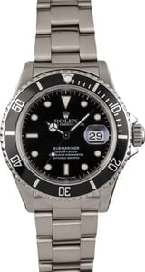 Used Stainless Steel Rolex Submariner 16610 Timing Bezel