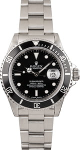 Used Stainless Steel Timing Bezel Rolex Submariner 16610