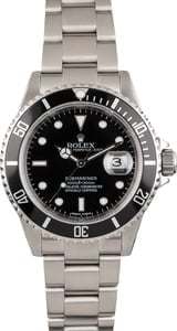 Pre Owned Steel Rolex Submariner 16610