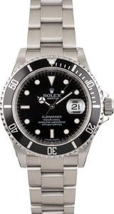 Used Rolex Submariner 16610 Oyster Bracelet Black Dial