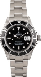 Used Rolex Submariner 16610 Black Stainless Steel Bezel