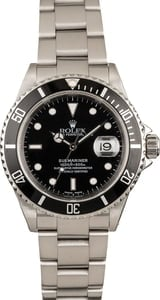 Pre Owned Stainless Rolex Submariner 16610