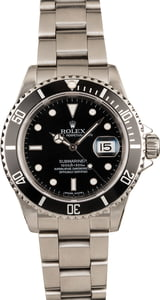 Pre Owned Rolex Submariner 16610 Luminous Dial Black