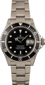 Pre-Owned Rolex Submariner 16610 Timing Bezel Watch