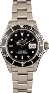 Used Rolex Submariner 16610 Stainless Steel Model