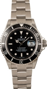 Pre-Owned Rolex Submariner 16610 Luminous Dial Watch